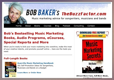 music marketing tips advice bob baker